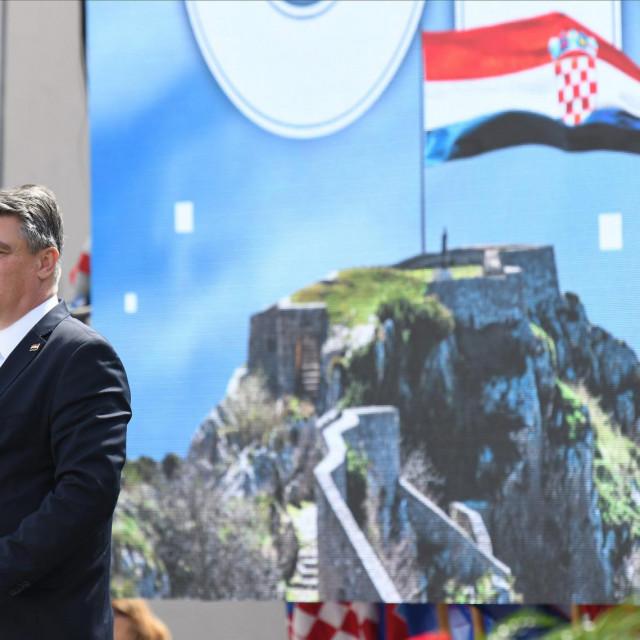 Predsjednik Milanović prošle godine na obilježavanju Dana pobjede u Kninu