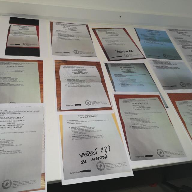 Glasački listići koje je pronašao SDP<br />