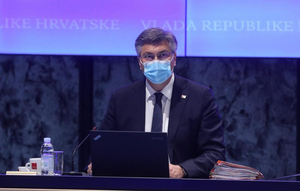 Premijer Plenković na sjednici Vlade nakon koje je komunicirao s novinarima bez novih konflikta