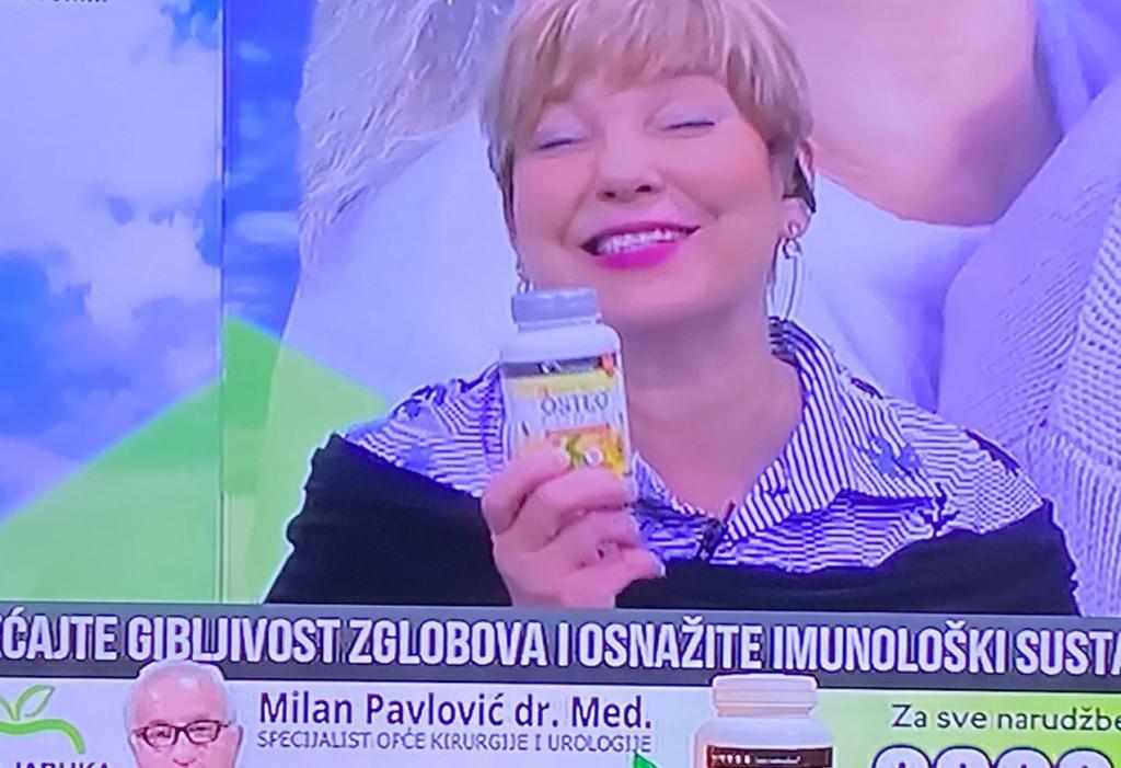 Karmela Vukov Colić u emisiji 'Zdrava jabuka'.