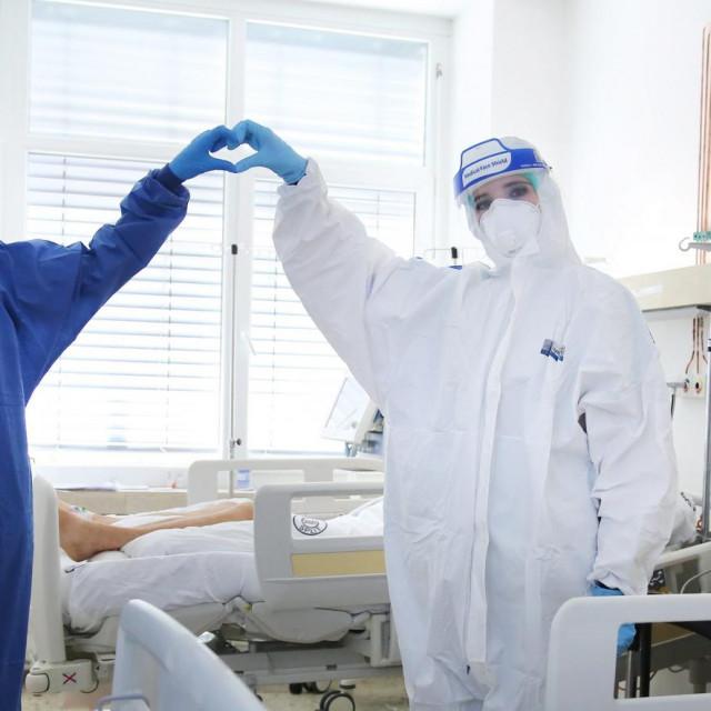 COVID odjel na infektologiji bolnice Križine u Splitu<br />