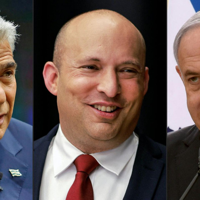 Yair Lapid, Naftali Bennett i Benjamin Netanyahu