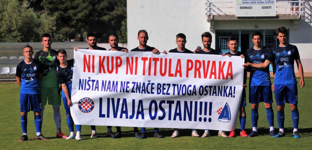 Neretvanac je uoči utakmice u Biogradu protiv Primorca izašao s transparentom...