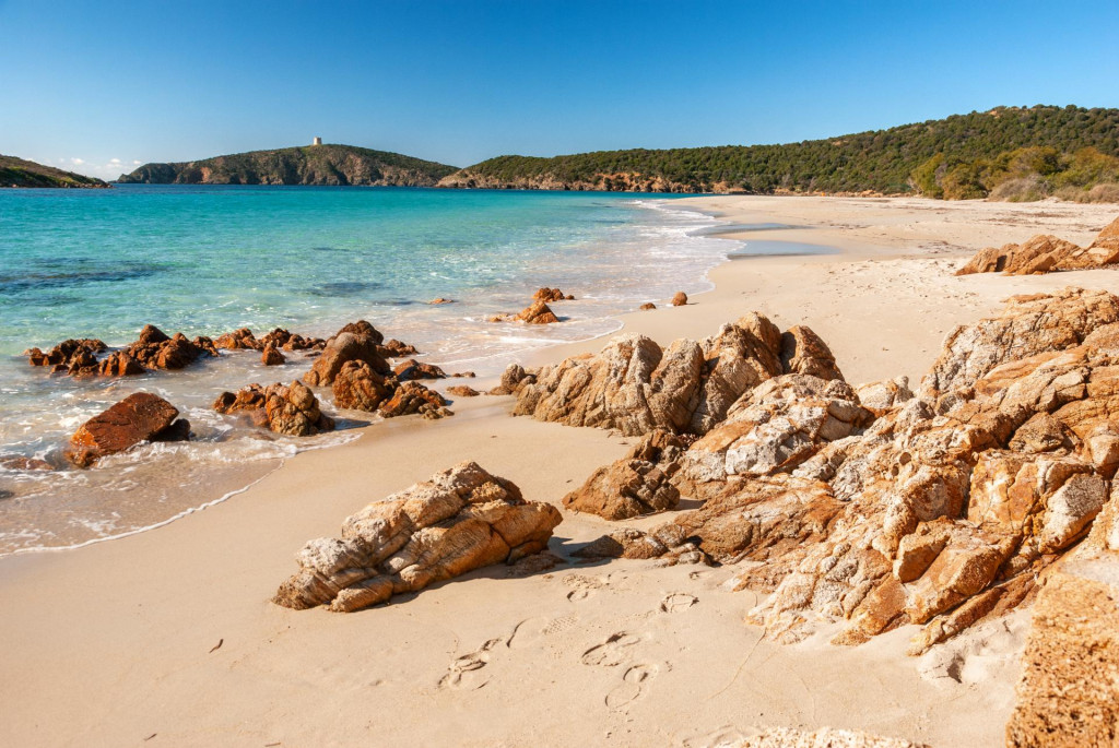 Plaža Tuerredda na Sardiniji