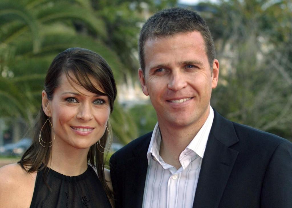 Klara snimljena sa suprugom Oliverom.