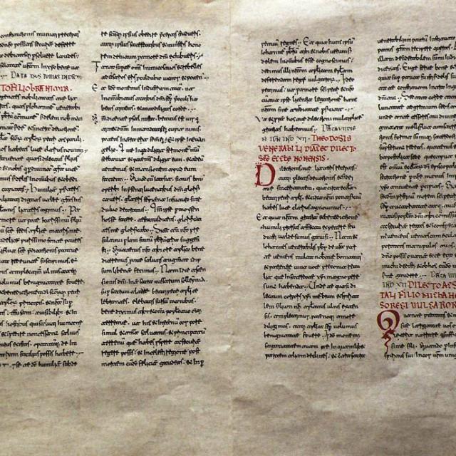 Faksimil pisama pape Ivana VIII