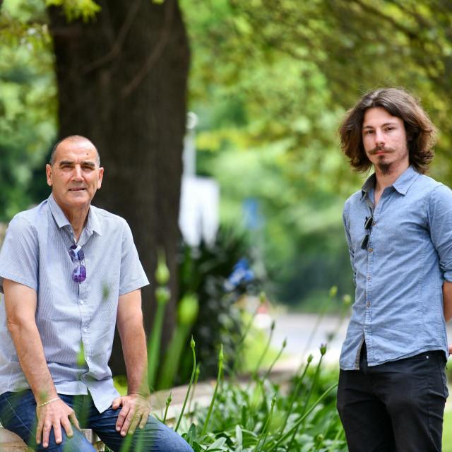 Osnivači Udruge 'Mladi u Gradu' dr.Vicko Mihaljević i njegova desna ruka Đivo Testen