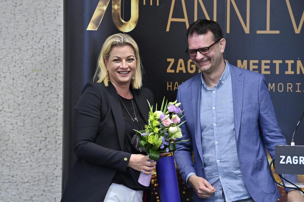 Ana Hanžeković Krznarić i Robert Šola, direktor Memorijala Borisa Hanžekovića