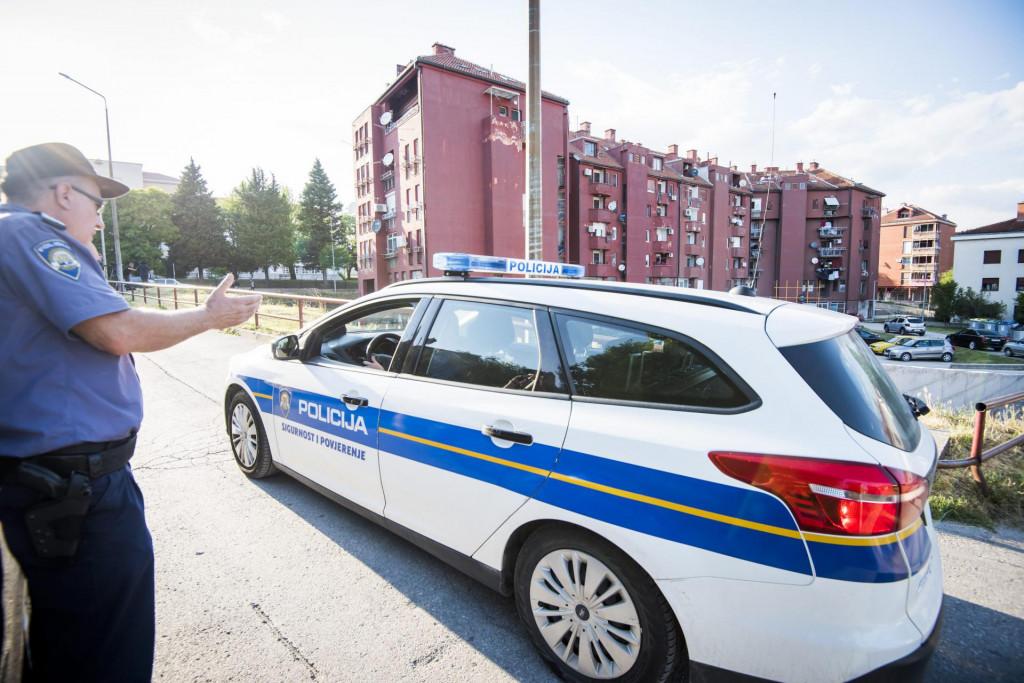 Policijski očevid u Kninu