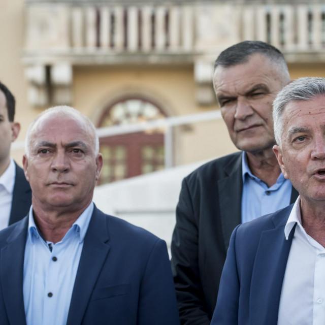 Željko Burić, Goran Pauk, Nediljko Dujić i Ivan Malenica uoči nedavnih lokalnih izbora...