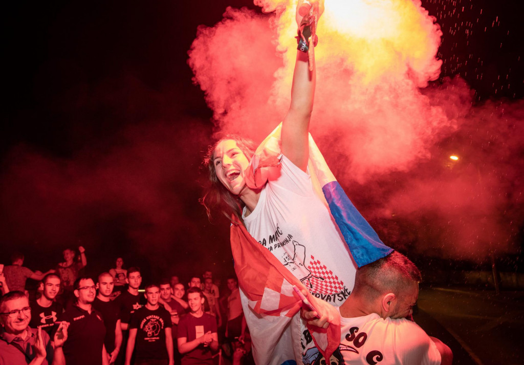 Doček Barbare Matić na splitskim Pujankama nakon osvajasnja svjetskog zlata u Budimpešti
