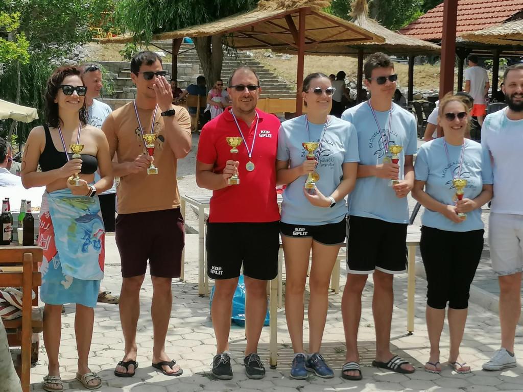 Pobjednici po skupinama na Baćinskim jezerima