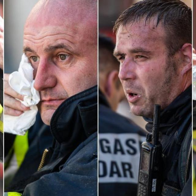 Izmučena lica zadarskih vatrogasaca