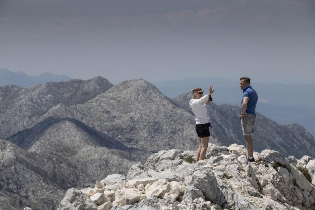 Pogled na zapadni dio Biokova s vrha Sv. Jure