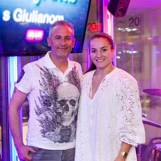Giuliano i Barbara u studiju Radio Dalmacije