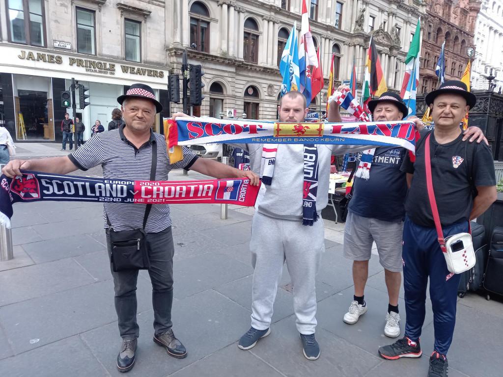 Našli smo i hrvatske navijače u Glasgowu