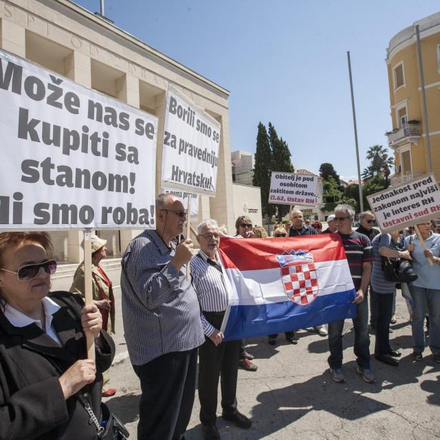 Prosvjed u Splitu