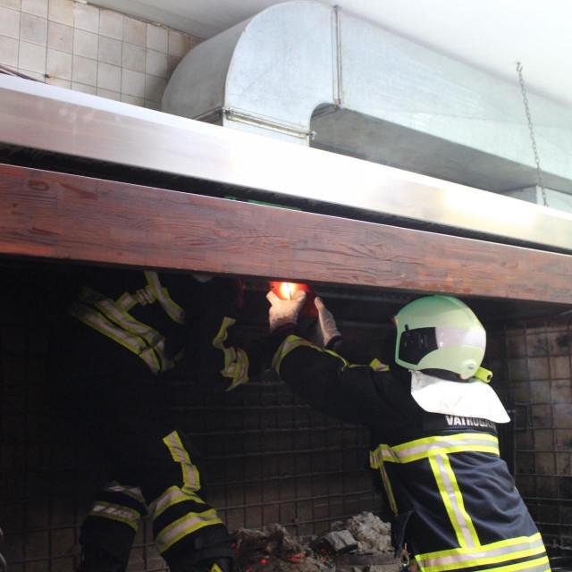 U konobi Blidinje došlo je do požara dimnjaka