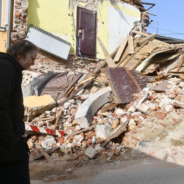 Centar Petrinje nakon razornog potresa