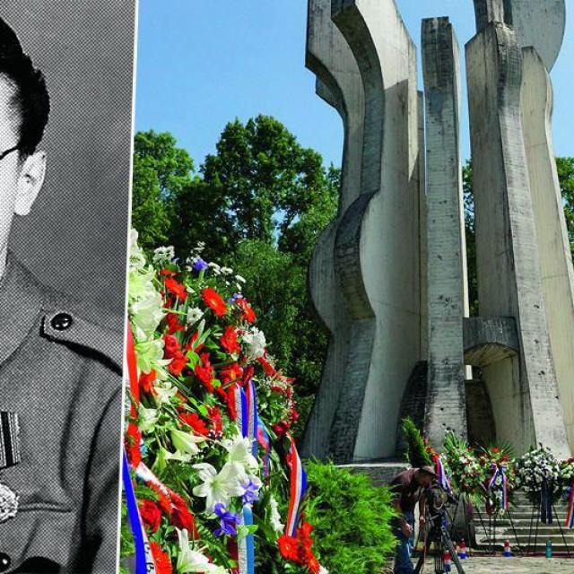 Franjo Tuđman u slavnim partizanskim danima i spomenik u šumi Brezovica