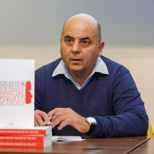 Split, 130220.<br /> Promocija knjige Kontroverze hrvatske povijesti 20. stoljeca autora Ive Goldsteina odrzala se u hotelu Park.<br /> Na fotografiji: Ivo Goldstein.<br />