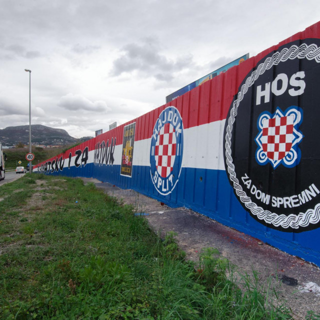 'Za dom spremni' na izlazu iz Splita