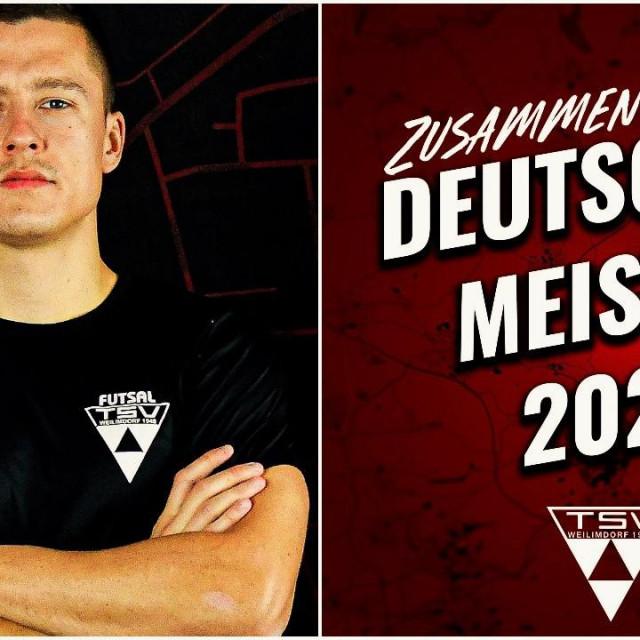 Maro Đuraš, prvak Njemačke 2021. s TSV Weilimdorfom