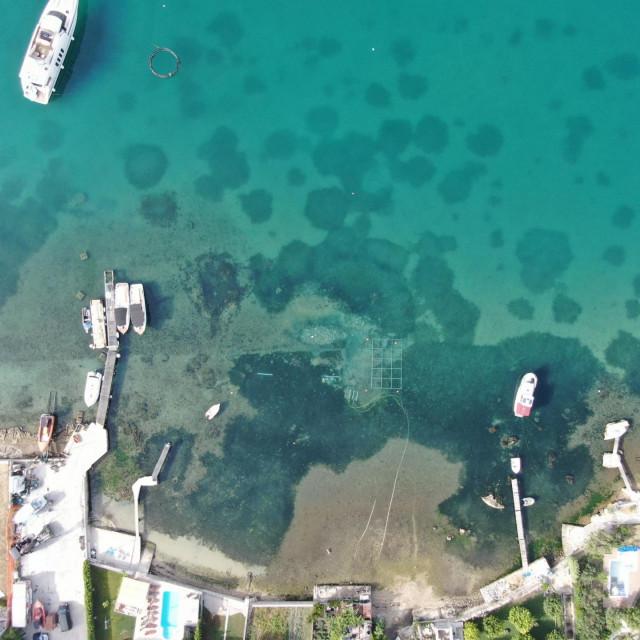 Pogled iz zraka na istražene brodove