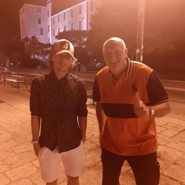 Luka Modrić uživao u Šibeniku