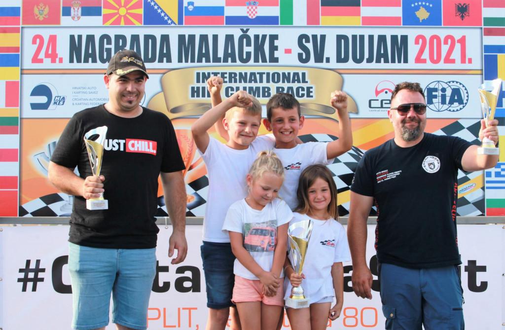 Klupski poredak - drugi Dubrovnik Racing, prva Župa dubrovačka, pokal su preuzeli mališani članova kluba slavodobitnika, a Velika Gorica treća
