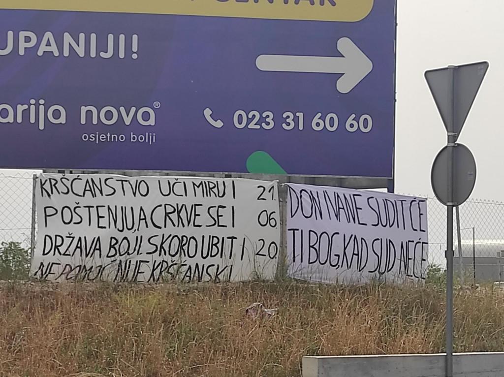 Transparent na rotoru u Gaženici<br /> Zadarski.hr