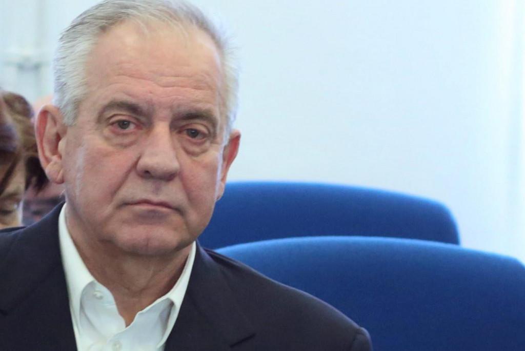 Zagreb, 120220.<br /> Zupanijskli sud, Zrinjevac.<br /> Nastavak sudjenja Ivi Sanaderu po optuzbi za udruzivanje za pocinjenje kaznenog djela u aferi Fimi media.<br /> Na fotografiji: Ivo Sanader.<br />