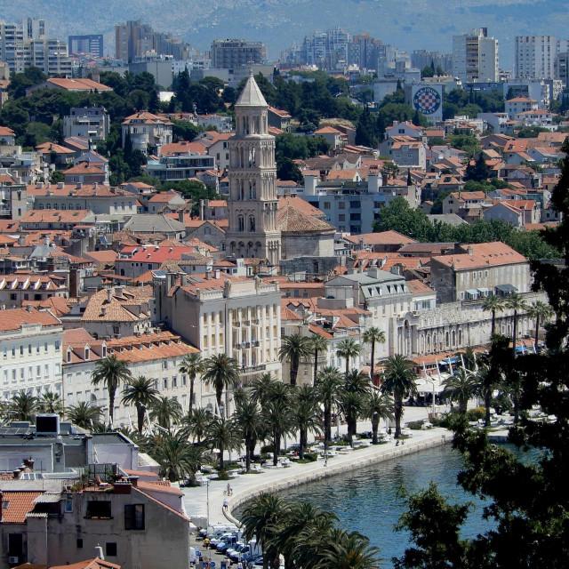Panorama Splita snimljena sa Prve vidilice na Marjanu.<br /> <br /> <br />