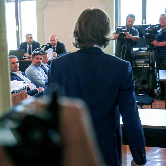 Luka Modrić u sudnici osječkoga suda