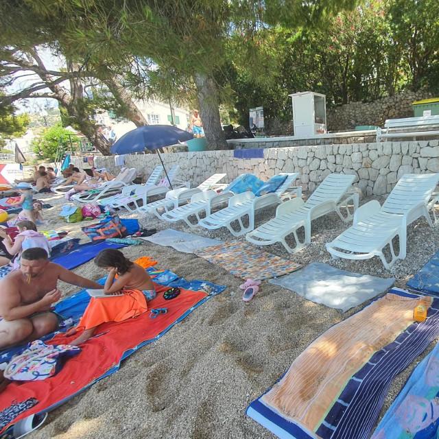 Plaža u Tučepima bila je poprište ružnog incidenta