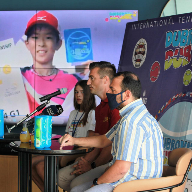 Konferenciju za novinare uoči početka Dubrovnik DUB Bowla, međunarodnog teniskog turnira za mališane do 11 i do 13 godina
