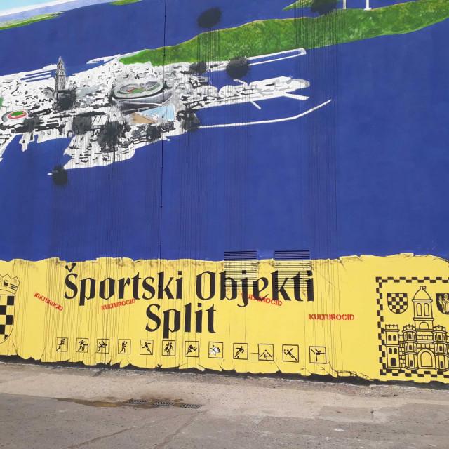Kulturoicid!, vrišti s oštećenoga novog murala na Gripama