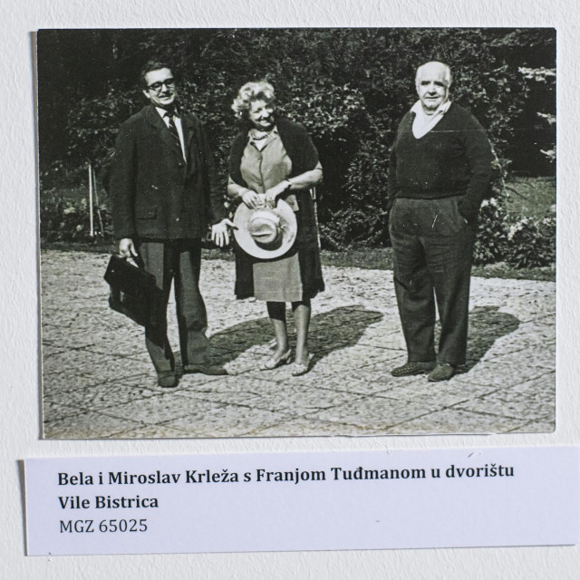 Bela i Miroslav s Franjom Tuđmanom, kasnijim predsjednikom Republike Hrvatske