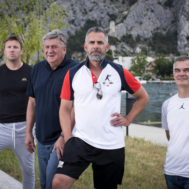 Ivan Mimica, Milidar Vojnović, Ante Nazor i Mladen Vušković