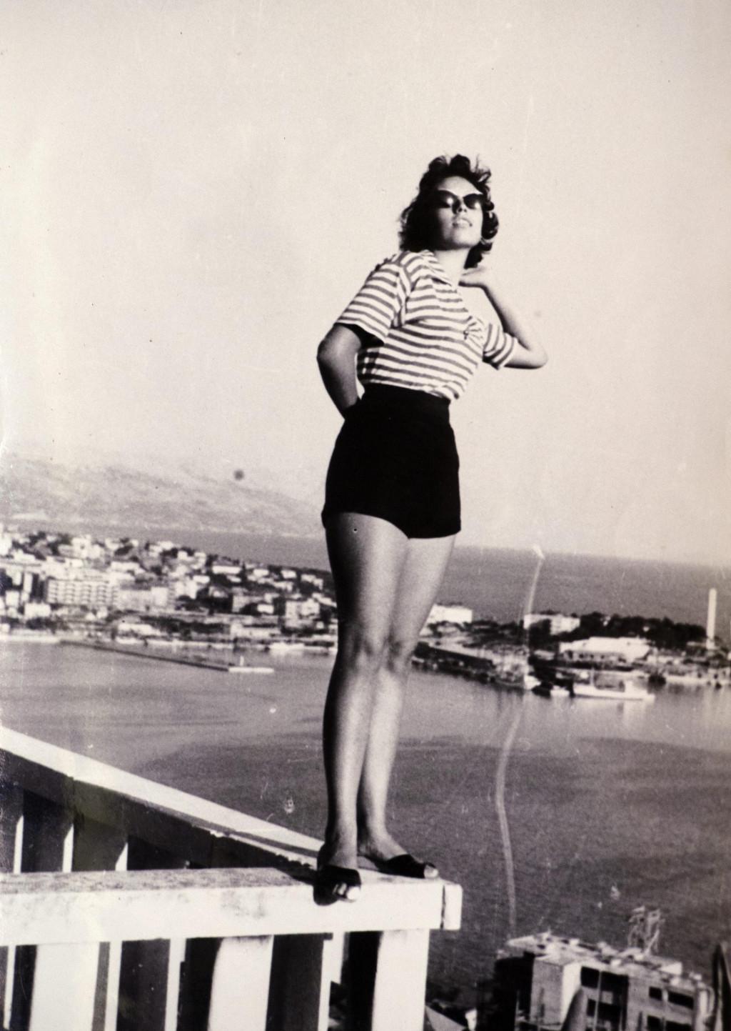 Ada Bilać u mladim danima, na prvoj vidilici Marjana