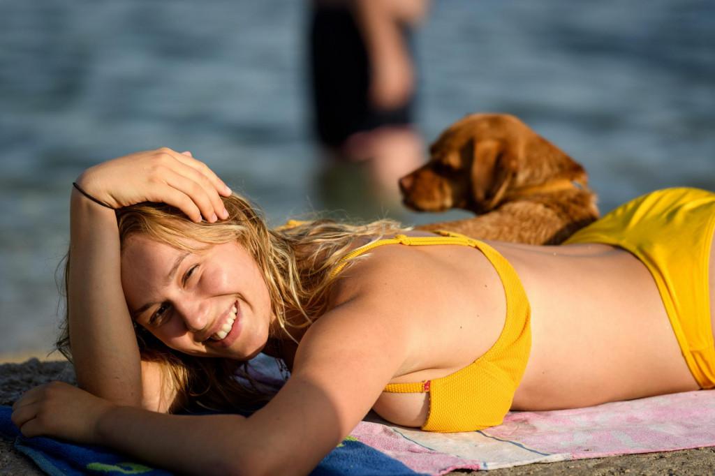 Plaža za pse u centru Vodica
