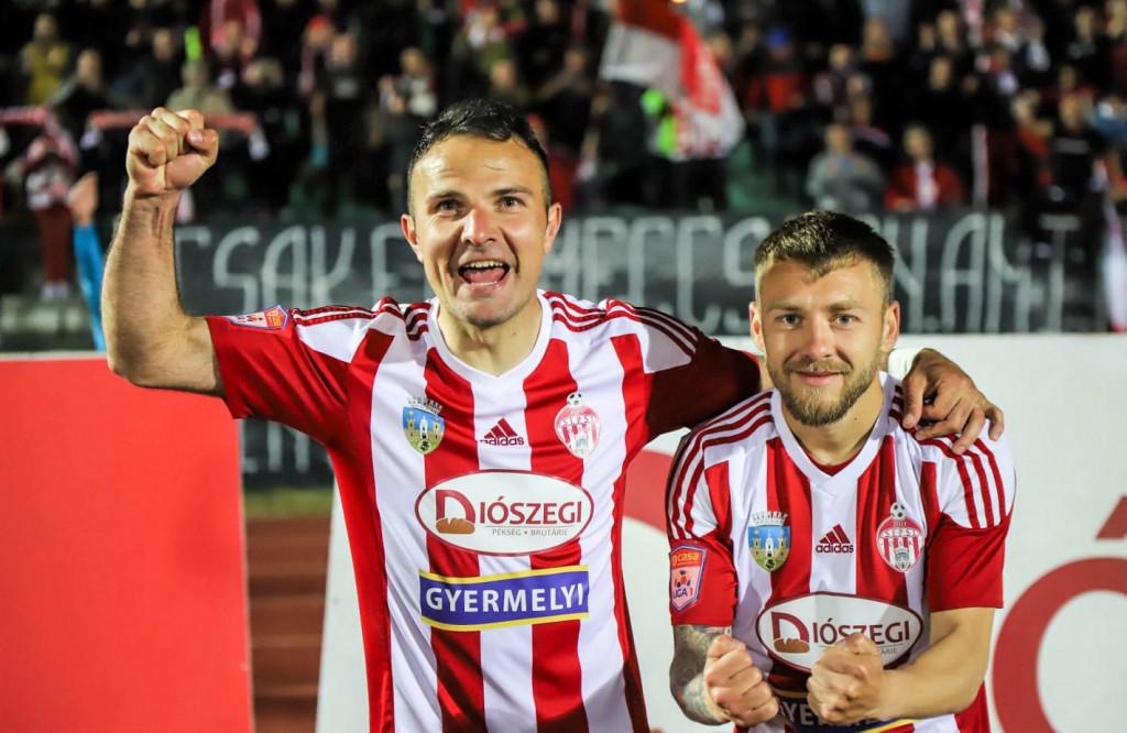 Slavi pobjedu Sepsi Sf. Gheorghe - Adnan Aganović (lijevo)