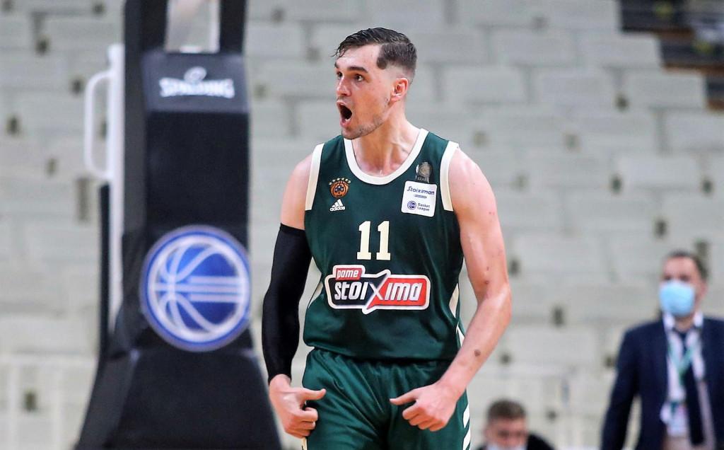 Mario Hezonja u dresu Panathinaikosa