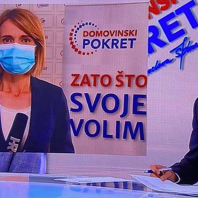 Mirjana Posavec u večerašnjem Dnevniku HRT-a se srušila na pod pred kamerama.