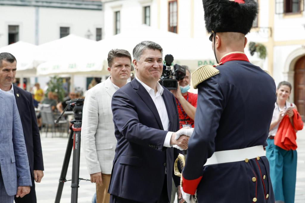 Predsjednik RH Zoran Milanović u Varaždinu