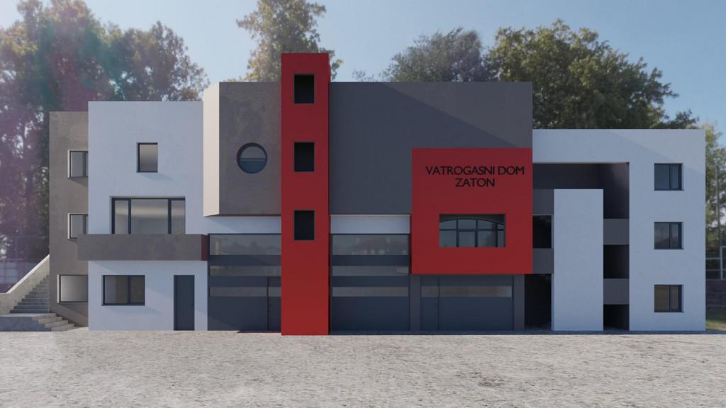 Ovako će zgledati rekonstruirani Vatrogasni dom u Zatonu