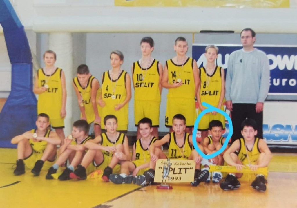 Mate Pavić u svojim košarkaškim danima na Gripama
