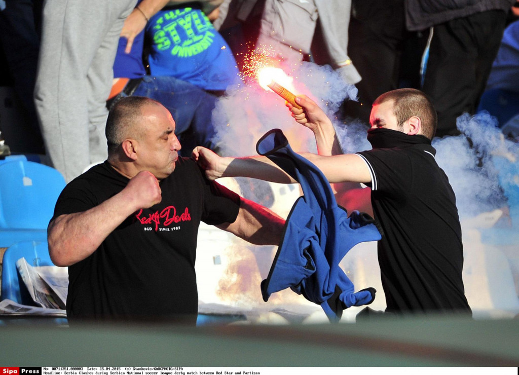 Na stadionu 'Karađorđe' došlo je fizičkog sukoba dvije skupine navijača (ilustracija)<br /> <br /> <br />