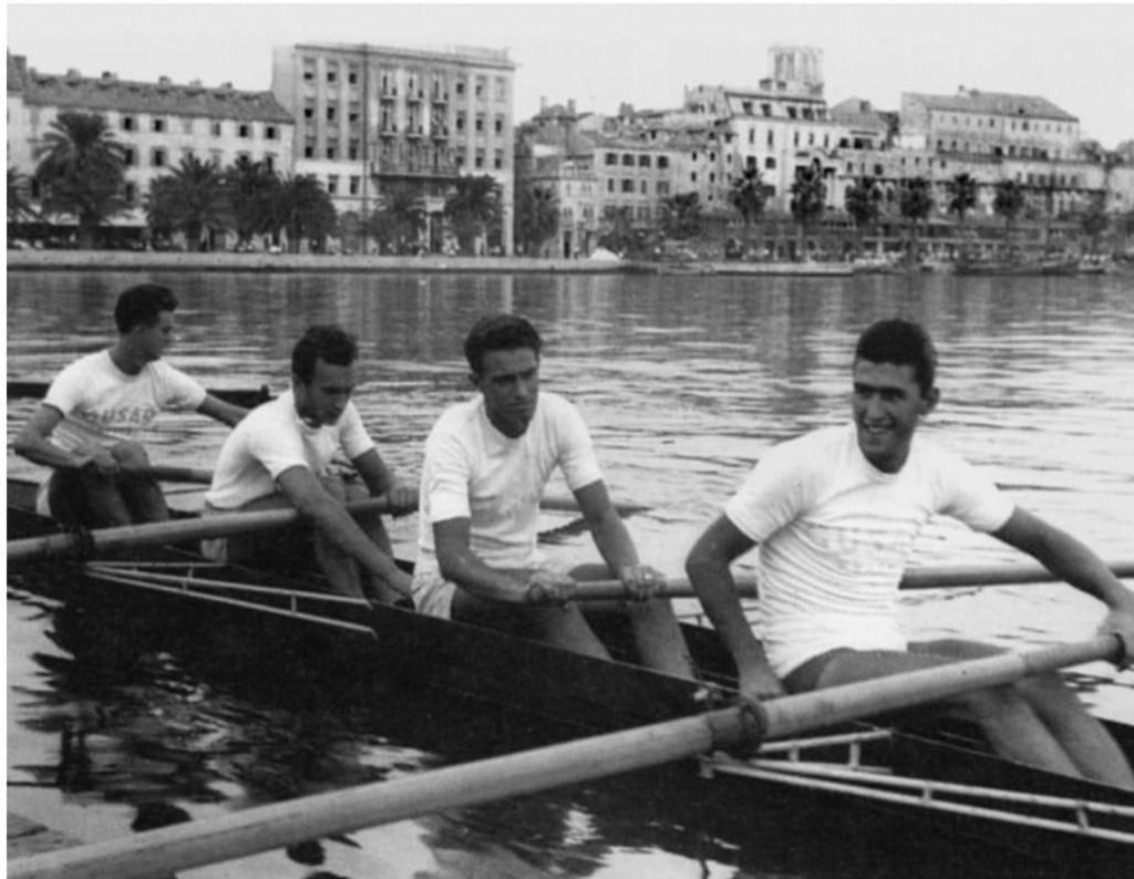 Duje Bonačić, Velimir Valenta, Mate Trojanović i Petar Šegvić - vesla od zlata