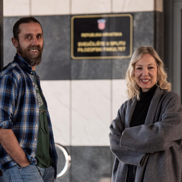 Prof. dr. Darko Hren i prof. dr. Ina Reić Ercegović s Filozofskog fakulteta u Splitu